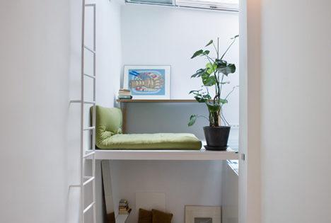 Arquitectura en tiempos de escasez  III: Mini Loft completo en 20 mts