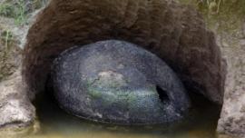 ¿Qué es el 'huevo' gigante encontrado en Argentina?