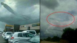 La verdad de la misteriosa figura humana en el cielo de Zambia