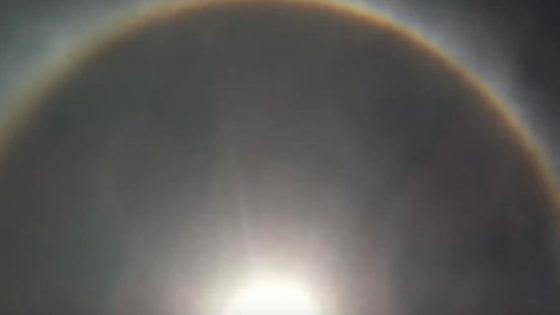 Captan dos anillos alrededor del Sol en Brasil