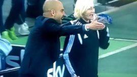 Guardiola y su vídeo con el cuarto arbitro