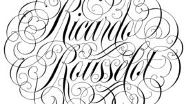 Ricardo Rousselot dibujando letras