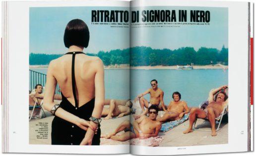 La página impresa de Helmut Newton