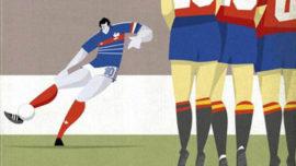 Fútbol dibujado para la Eurocopa