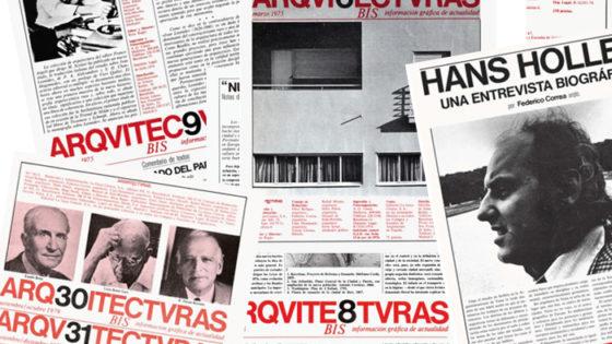 Revista Arquitecturas Bis: historia del diseño