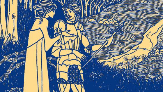 El rey Arturo ilustrado por Aubrey Beardsley