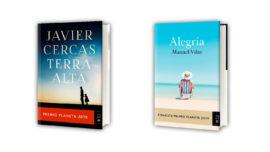 Las portadas de las novelas ganadora y finalista del Premio Planeta 2019