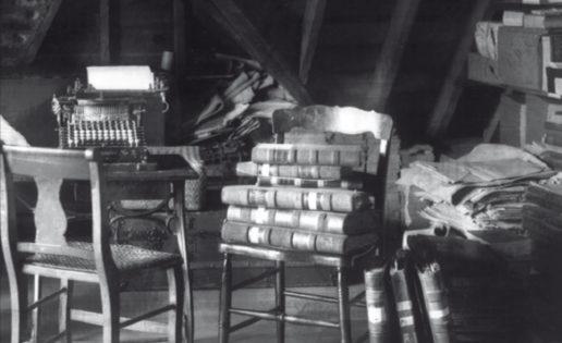 Los libros, en la buhardilla