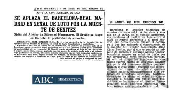El Barça- Real Madrid se aplaza hasta el martes próximo. Fue en la 67-68