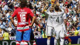 Si el Granada se adelanta en el Bernabéu, siempre puntúa