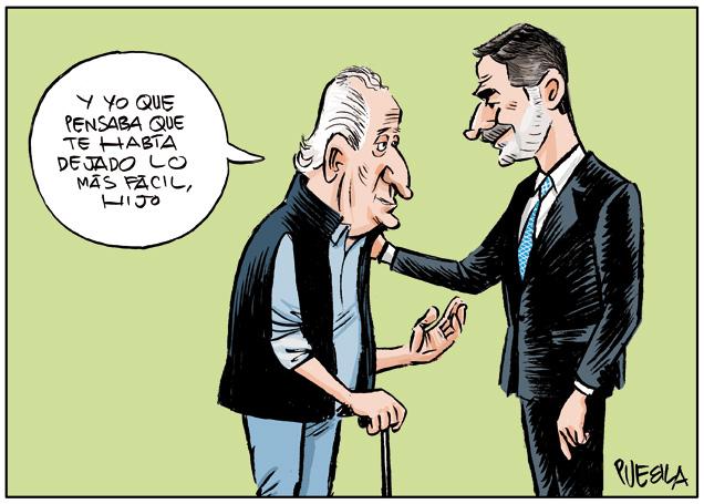 Don Juan Carlos y Don Felipe
