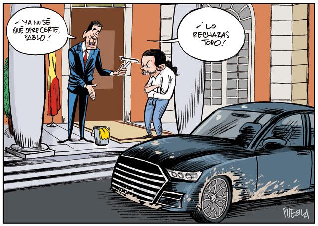 Las ofertas poco atractivas de Sánchez a Iglesias
