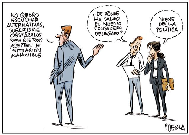 Un ejecutivo advenedizo