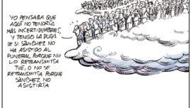 Funeral sin el presidente del Gobierno