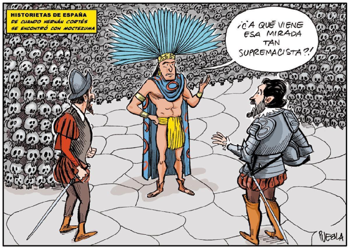 De cuando Hernán Cortés se encontró con Moctezuma