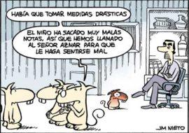 Aznar y las malas notas, por J.M. Nieto