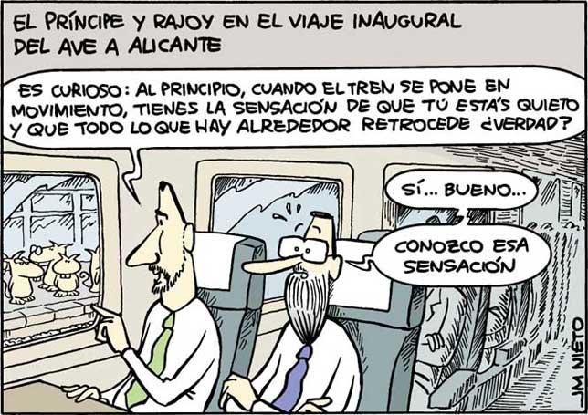 Viaje inaugural del AVE a Alicante, por J.M. Nieto