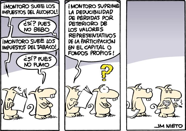 Subida de impuestos, por J.M. Nieto