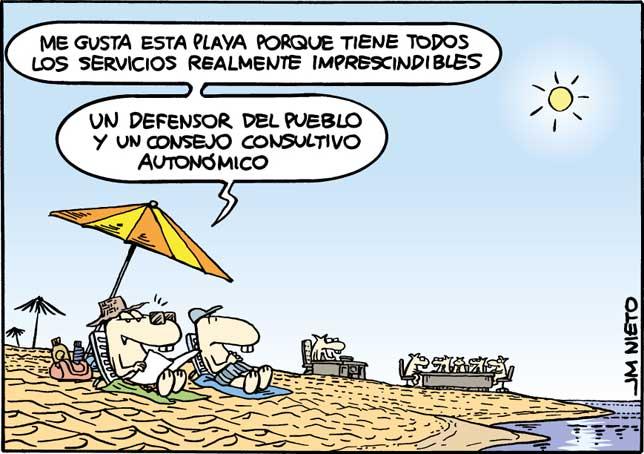 Servicios playeros, por J.M. Nieto