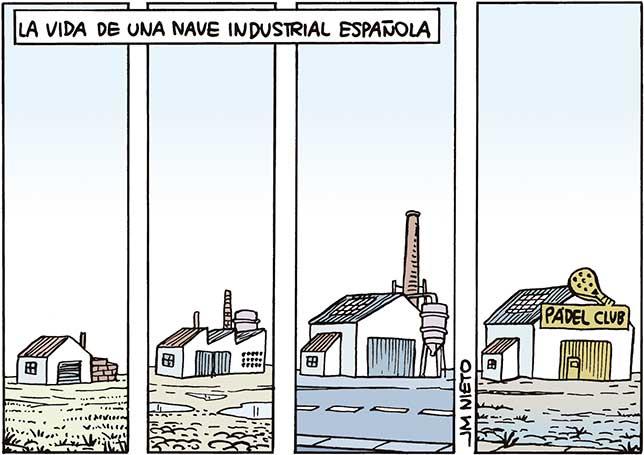 Vida de una nave industrial española