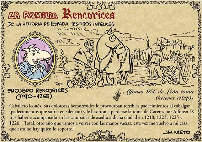 La familia Rencorices, de la historia de España testigos infelices (III)