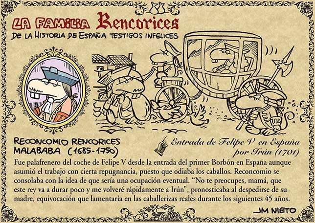 La familia Rencorices, de la historia de España testigos infelices (VII)