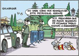 Gran despliegue de la Guardia Civil en Galapagar