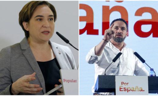 ¿Ada Colau y TVE vetan a Vox?, más votos para Santiago Abascal