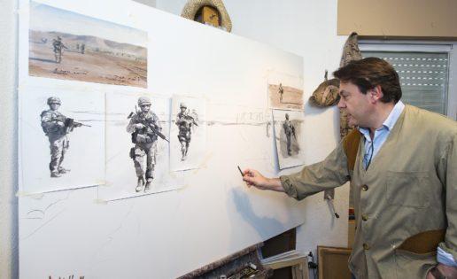 """""""La patrulla"""", de Ferrer-Dalmau, el primer cuadro de la Guerra de Afganistán"""