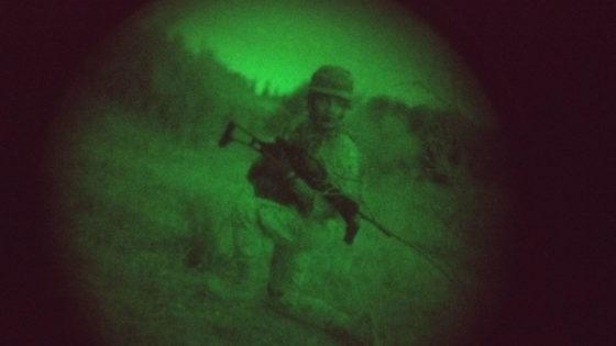 De maniobras nocturnas con la Escuela de Guerra del Ejército