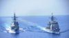 La fragata «Cristóbal Colón» protege a un buque de guerra de la US Navy