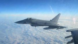 España desplegará cuatro cazas Eurofighter en Lituania en enero