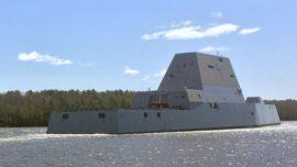 La US Navy recibirá su revolucionario destructor Zumwalt el próximo mes