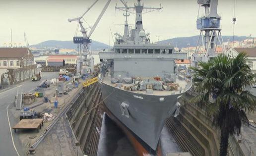 Navantia pone a punto el buque Cantabria en el astillero de Ferrol