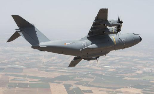 El primer vuelo del A400M del Ejército del Aire