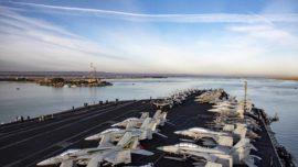 Dos portaaviones de EE.UU. y Rusia coinciden por primera vez en el Mediterráneo