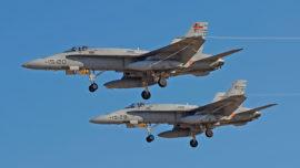Los cazas F-18 de Zaragoza, los elegidos para desplegar con la OTAN en Estonia
