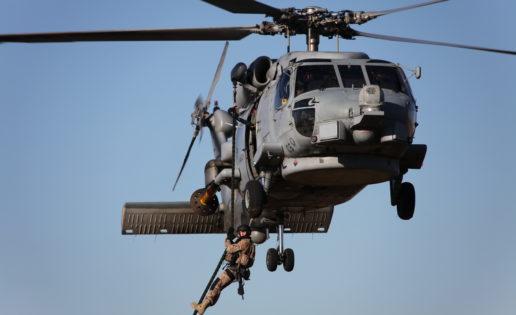Desembarco helitransportado de los Equipos Operativos de Seguridad de la Infantería de Marina
