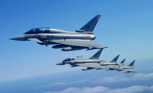 España enviará en mayo cazas Eurofighter a Lituania para la misión de la OTAN en el Báltico