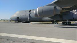 El impresionante aterrizaje del mastodóntico avión C-5 Galaxy de EE.UU. en la base de Rota