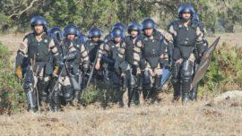 La Infantería de Marina se adiestra en dar seguridad a instalaciones críticas y control de masas