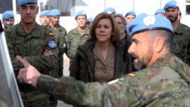 Líbano: Cospedal, en el puesto 4-28, donde murió el cabo Soria