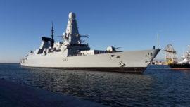 Atraca en Málaga el HMS Duncan, el buque de guerra más moderno del Reino Unido