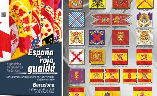 «España en rojo y gualda»: el Ejército lleva la historia de la Bandera a Barcelona