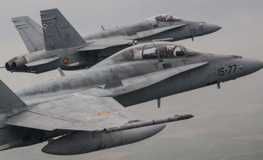 Siete cazas F-18 del Ala 15 (Zaragoza), de maniobras con la OTAN en Holanda
