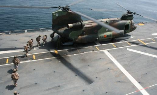 Exhibición militar para situar a Rota como cuartel general clave de la UE