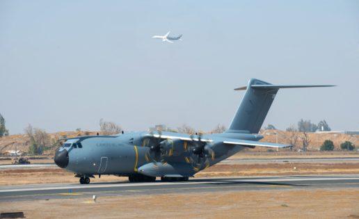 El Ejército del Aire exhibe el A400M en la feria aeronáutica de Chile
