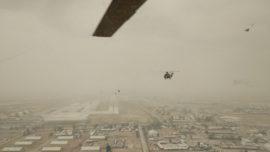 Los helicópteros del Ejército llegan a Irak escoltados por los Blackhawk