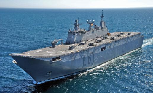Una avería del buque «Juan Carlos I» obliga a reprogramar unas maniobras aeronavales