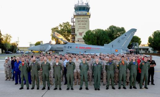 La flota de cazas Eurofighter alcanza las 500.000 horas de vuelo